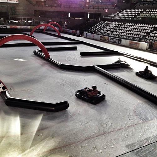 Karting sur Glace à la patinoire de Bordeaux Meriadeck