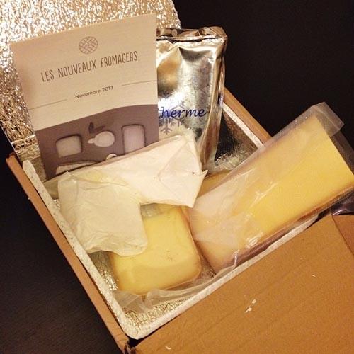 Première box de fromage - Les Nouveaux Fromagers